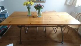 Habitat 'Bath' Design Dining Table with Cast Iron Base. Comes with 4 Chairs