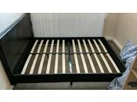 Double bed frame leather
