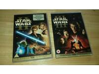 2 star wars DVDs
