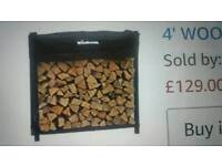 4' woodhaven heavy duty firewood rack / cover