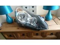 Near side front corsa headlamp