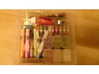 Tub of mixed glitters for card making, scrapbooking, crafts