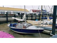 Sailing yacht Silhouette 20 GRP hull B/K - Bargain .. priced to sell quickly