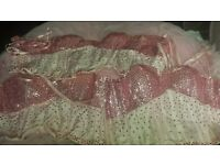 pink diamond corset tops and 1 large pink underskirt
