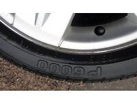 4 alloy rims with tyres off a renault cleo