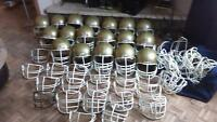 18 football helmet with face grills 42 extra face grills