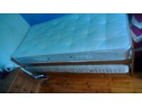 Pine single bed plus under bed guest bed
