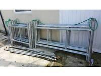 2 x Scaffolding towers galvanised steel 4m plus
