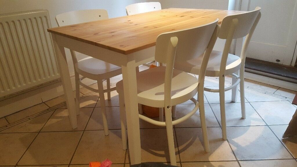 Phenomenal Ikea Lerhamn And 4 X Ikea Idolf Chairs Perfect Condition In Barnes London Gumtree Alphanode Cool Chair Designs And Ideas Alphanodeonline