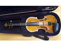 Full size Stringers Violin For Sale. Good Condition, includes Bow and Case. Ideal for a beginner