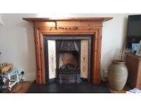 Victorian Reproduction Fireplace & Wooden Mantlepiece