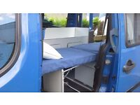 Fiat Doblo campervan conversion kit consisting of 2 removable units, to form Micro Campetvan!