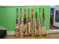 BRANDED CRICKET BAT, THICK EDGE, SHORT HANDLE, ENGLISH WILLOW.