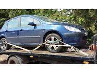 Peugeot 307 2002 2.0 16v Petrol - - Breaking