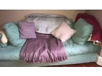 Green 4 seater sofa bed