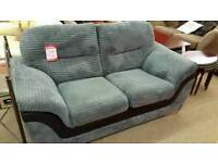 Black & grey two seater sofa