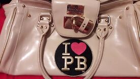 Pauls boutique cream and gold hand bag