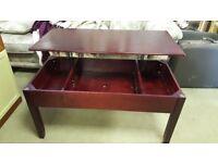 Mahogany Coffee Table With Storage