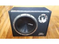 Vibe Black Air 12 inch 1600W sub, box, amp and audio cables