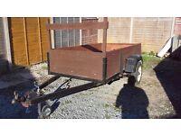 8' x 4' box/motorcycle car trailer