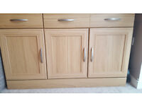Cabinet with two drawers/ Storage cabinet/ Display cabinet - oak veneer