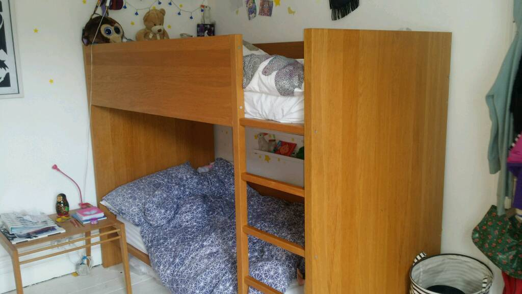 Habitat oak bunk beds