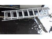 3 section alluminium ladder . £60
