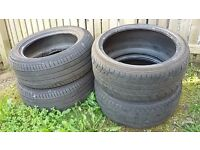 "FREE! 7 X 17"" 18"" TYRES (NOT ROAD LEGAL) FOR BACK GARDEN OR KIDS PLAY AREA"