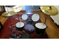 Junior Gear4Music Drumkit with Additional Full-size Cymbals