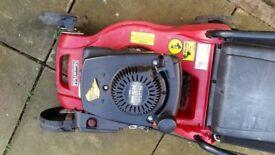Mountfield 100cc petrol lawnmower needs attention.starts then stops .worked fine last season