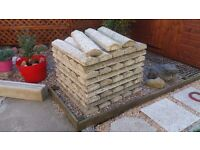 Wall Coping - Apex style - Pebble Dash Finish - Reinforced (Reclaimed) 170x900mm
