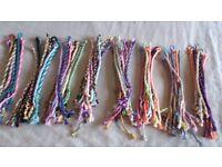 Joblot of freshly made Friendship Bracelets for Fundraiser or Carboot