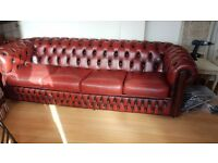 Chesterfield sofa set (4 seat, 2 seat, chair)