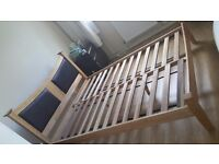Frame king size bed from Ikea.