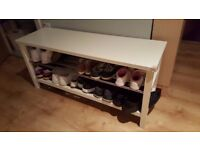 2 level shoes shelf bench - IKEA Tjusig, white