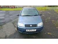 2003 Fiat Punto 1.2 Active 8V 5 Door Manual Petrol - MOT October 2017 - 84880 Genuine Miles