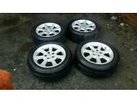 "16"" opel vauxhall wheels with matching Goodyear tyres"