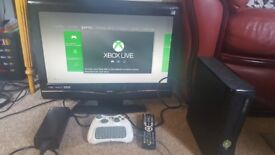 T.V, Xbox 360s and games
