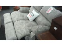 BRITISH HEART FOUNDATION Grey Recliner Sofa