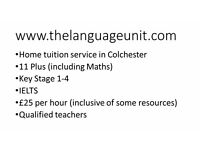 11 Plus teacher, 11+ tutor, 11 Plus lessons in Colchester with The Language Unit