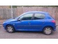 Peugeot 206 1.1 Style blue 5 door manual