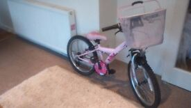 PINK GIRL'S BIKE - FOR AGES 5 TO 10