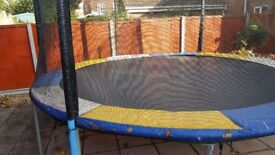 For sale a 12ft trampoline complete with safety net good condition.