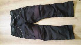 Fabric motorbike trousers