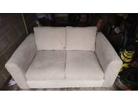 Light Brown fabric 3-seater settee