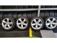 Hyundai Genuine 17 alloy wheels + 4 x tyres 215 45 17