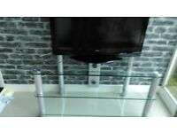 Glass tv unit 41 ins x 18 ins