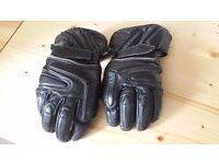 Buffalo Leather Motorcycle Gloves (Size L)