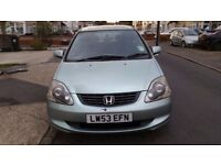 1.6L HONDA CIVIC IN BARGAIN PRICE, FULL MOT HISTORY, LOW MILEAGE AND PART HISTORY