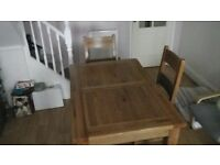 English Oak Dining Table + 6 Chairs